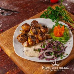 Блюда из овощей на углях